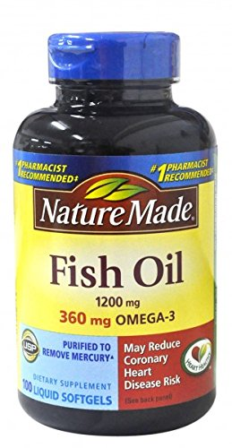 Nature Made Fish Oil 1200 mg Softgels 100 ea (Pack of 12) by Nature Made
