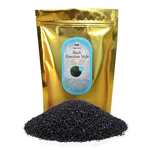 - Black Hawaiian-Style Sea Salt, Coarse Grain 1 lb.