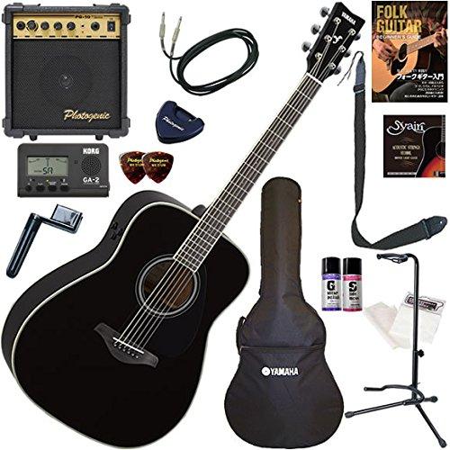 YAMAHA エレアコ 初心者 入門 ギターの生音にリバーブ、コーラスをかけられるトランスアコースティックギター すぐに始められるスタンダード15点セット FG-TA/BL(ブラック)  BL(ブラック) B0792FLW4D