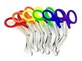 ASSORTED RAINBOW 6 PCS PINK EMT FIRST RESPONDER 7.5'' SHEARS - IDEAL GIFT FOR NURSES, EMT, FIREFIGHTER, POLICE AND MILITARY