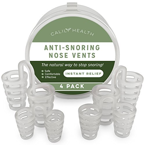 Calily Health Anti-Snoring Nose Vents –Instant and Natural Snore Relief – Pack of 4 / Stop Snoring Aid Solution - Natural, Fast and Simple