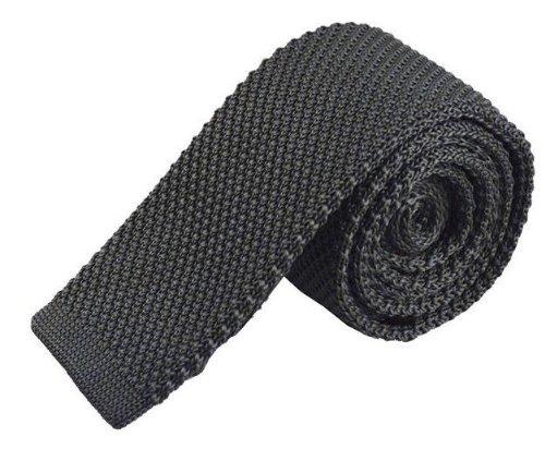 silver tie plain Frederick knitted Thomas grey EnqnfwS7