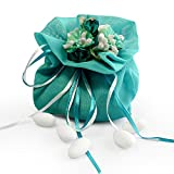 Moleya 20pcs Wedding Favor Organza Pouches Gift Bags for Party Favors, Bridal Shower, Baby Shower and Anniversary, Blue