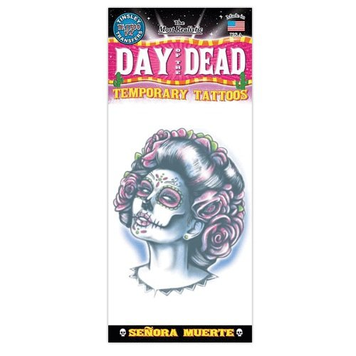 Day Of The Dead Design Temporary Tattoo- Senora -