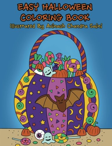Easy Halloween Coloring Book: Fun Halloween Coloring Book For Adults and Kids (Creative and Unique Coloring Books for Adults) (Volume 23) (Easy Halloween For Adults)