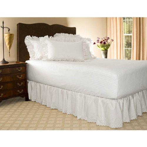 Eyelet Ruffled Bed Skirt w/Split Corners, 18