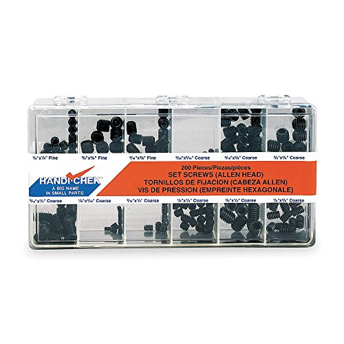 Set Screw Assort, Cup Point, 200 Pcs