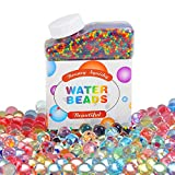 Water Beads LCHM (50000 Beads) Rainbow Mix Jelly Water Growing Balls for Kids Tactile Sensory Toys, Vase Filler, Plants, Wedding Centerpiece, Home Decoration