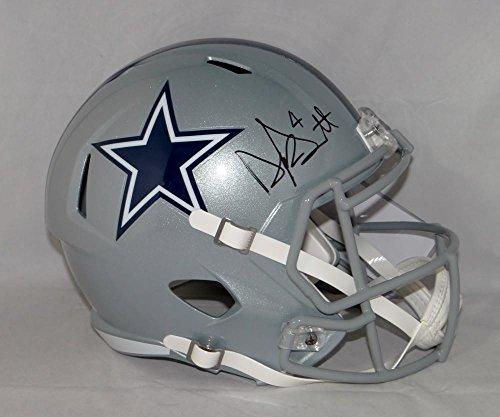 Dak Prescott Autographed Dallas Cowboys Full Size Speed Helmet- JSA W Auth (Autographed Dallas Cowboys Authentic Helmet)