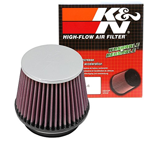 Acura Integra K&n Air Filter - K&N RF-1005 Universal Clamp-On Air Filter: Round Tapered; 4.5 in (114 mm) Flange ID; 4.5 in (114 mm) Height; 5.875 in (149 mm) Base; 4.5 in (114 mm) Top