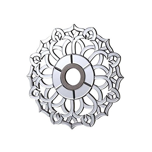 Elegant Lighting 24'' Mirrored Medallion Ceiling Canopy in Silver by Elegant Lighting
