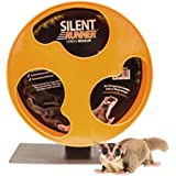 "Exotic Nutrition Silent Runner 12"" Regular - Pet Exercise Wheel + Cage Attachment"
