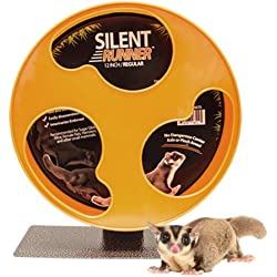 """Exotic Nutrition Silent Runner 12"""" Regular - Pet Exercise Wheel + Cage Attachment"""