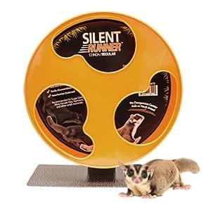 "Silent Runner 12"" Regular - Pet Exercise Wheel + Cage Attachment"