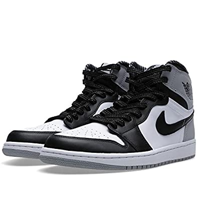 Air Jordan 1 Retro High OG Men's Basketball Shoes White/Black-Wolf Grey  555088-104
