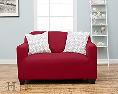Dawson Collection Basic Strapless Slipcover. Form Fit, Slip Resistant, Stylish Furniture Shield / Protector Featuring Lightweight Twill Fabric. By Home Fashion Designs Brand.