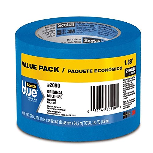 Scotch Blue Painter's Tape 2 Roll Value Pack 1.88' x 60 YD