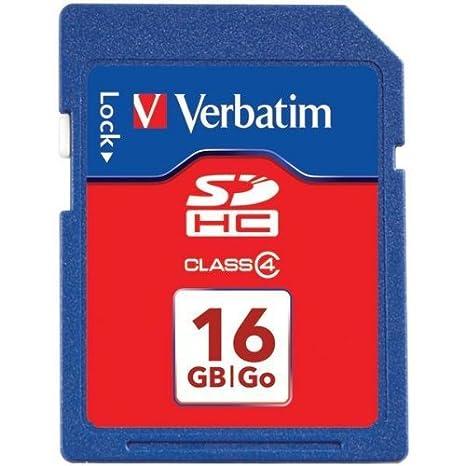 Amazon.com: Verbatim Clase de tarjeta de memoria flash SDHC ...