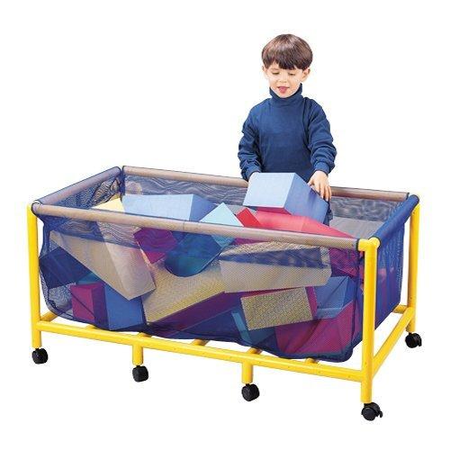 Mobile Heavy-Duty Nylon Mesh Equipment or Toy Box