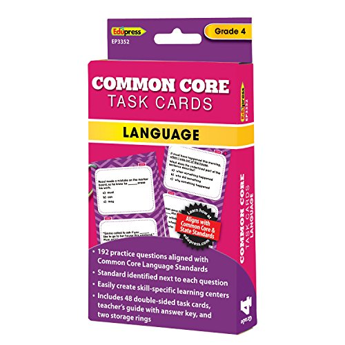 Edupress Common Core Task Cards, Language, Grade 4 (EP63352)
