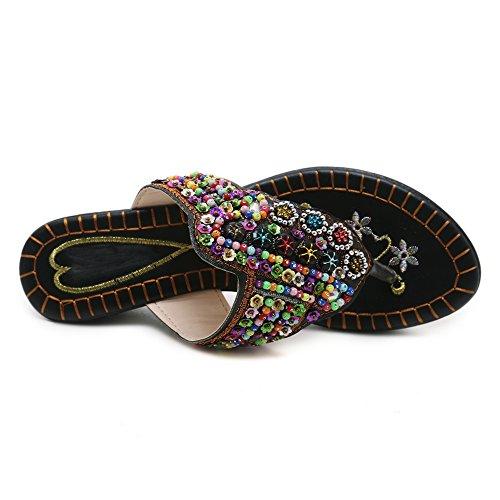 Black Toe Femmes Mules Sandales 934 Clip JOJONUNU qRSfwPUTS