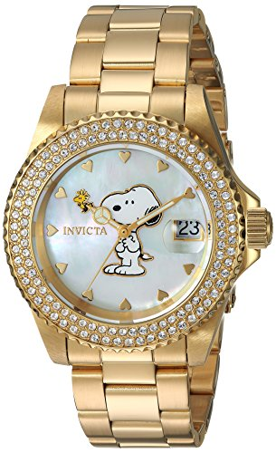 Invicta Women's 'Character Collection' Quartz Gold-Tone and Stainless Steel Casual Watch, Color:Gold (Model: 24809)