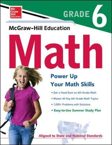 McGraw-Hill Education Math Grade 6 (Test Prep) cover