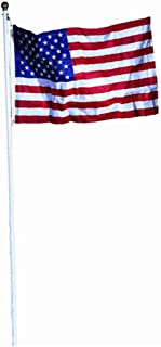 product image for Valley Forge 18-Foot In Ground Steel Flag Pole With 3-Foot x 5-Foot Polycotton Flag