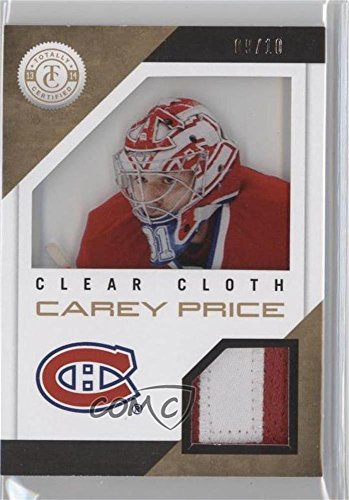 Carey Price #9/10 (Hockey Card) 2013-14 Totally Certified - Clear Cloth Jerseys - Gold Patch #CL-CP