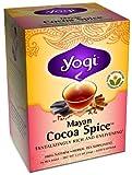 Yogi Tea Mayan Cocoa Spice Made With Organic Cinnamon Bark Low Caffeine - 16 Tea Bags, Pack of 8 (image may vary)