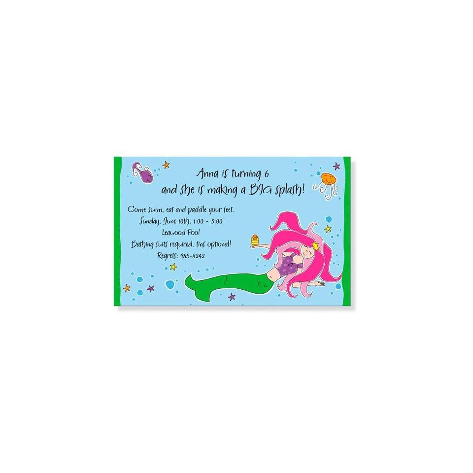 Childrens Birthday Party Invitations   Under the Sea Invitation