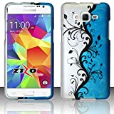 Zizo Cell Phone Case for Samsung Galaxy Grand Prime LTE G530 - Retail Packaging - Blue Vines