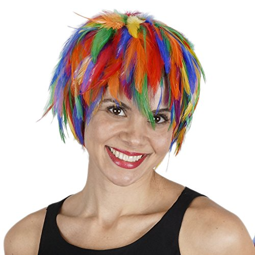 - Zucker Feather (TM) - Hackle Feather Wig-Multi Colors - Rainbow Mix