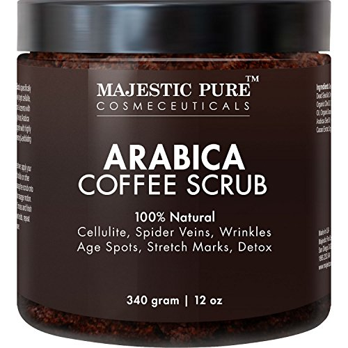 Majestic-Pure-Arabica-Coffee-Scrub-12-Oz-Natural-Body-Scrub-for-Skin-Care-Stretch-Marks-Acne-Anti-Cellulite-Treatment-Helps-Reduce-Spider-Veins-Eczema-Age-Spots-Varicose-Veins