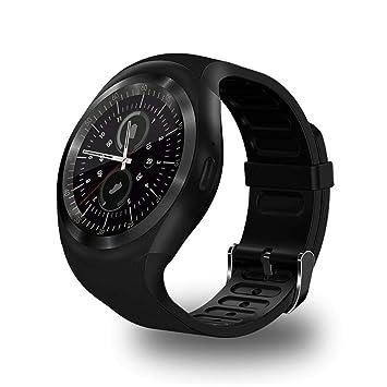 Oldhorse Montre Connectée,Bluetooth Smartwatch Montre Sport Carte Sim de Soutien et Carte de TF