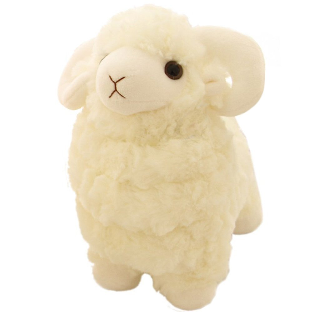 Amazon Com Luckstar Lamb Plush Doll 10 Creamy Cute And Soft Sheep