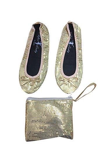 da Gold da donna ballerine borsetta Scarpe RZwpqg