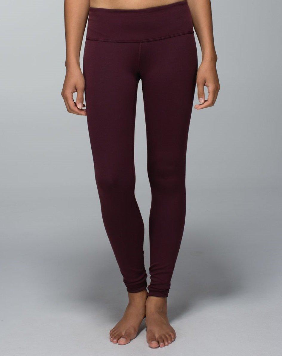 Lululemon Wunder Under Pant III Yoga Pants (Bordeaux, 10) by Lululemon (Image #3)