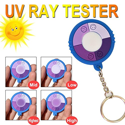 GREENWON round smiley face UV Uv keychain color change in the sun home outdoor use