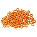 FidgetGear 100 x Orange Plastic Clip Number 1-100 Pigeon Supplies Rings Bands 9.5mm