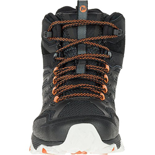 Merrell Moab Fst Mid Gtx, Botas de Senderismo para Hombre Negro (Black/orange)