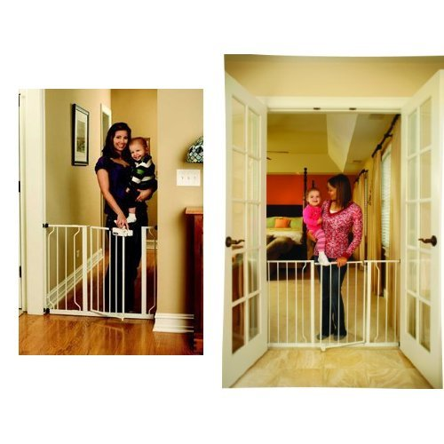 Regalo Easy Step Walk Thru Gate and Easy Open 50 Inch Super