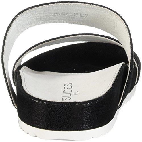J Edie Crinkle Sandal Women's Black Slides rEPqrxz