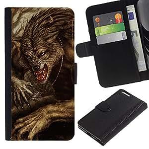 All Phone Most Case / Oferta Especial Cáscara Funda de cuero Monedero Cubierta de proteccion Caso / Wallet Case for Apple Iphone 6 PLUS 5.5 // Vignette Retro Rustic Halloween