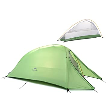 1 Person 4 Season Tent Double Skin 210T Plaid Fabric Ultralight C&ing Tent (green)  sc 1 st  Amazon.ca & 1 Person 4 Season Tent Double Skin 210T Plaid Fabric Ultralight ...