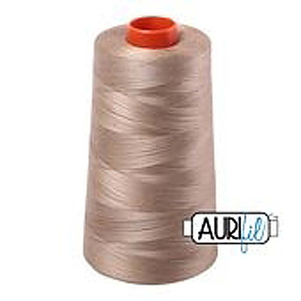 Aurifil 2325 Mako 50 Wt 100/% Cotton Thread 6,452 Yard Cone Linen,Beige