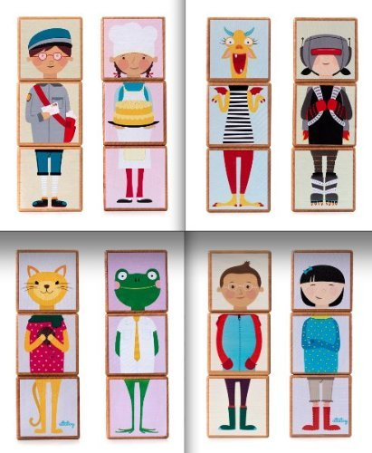 Mixmates Set of 4: Animals, Boys & Girls, Careers and Monsters & Superheroes