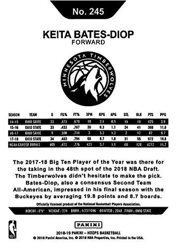 Amazon.com  2018-19 Panini Hoops  245 Keita Bates-Diop Minnesota  Timberwolves Basketball Card  Collectibles   Fine Art 2f36d5659