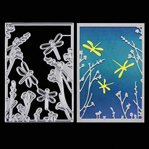 Metal Cutting Dies Stencils, MikiMiqi Criss-Cross Metal Flydragon Embossing Scrapbooking Dies Cuts Handmade Stencils Template Embossing for Card Scrapbooking Craft Paper Decor (Flydragon)