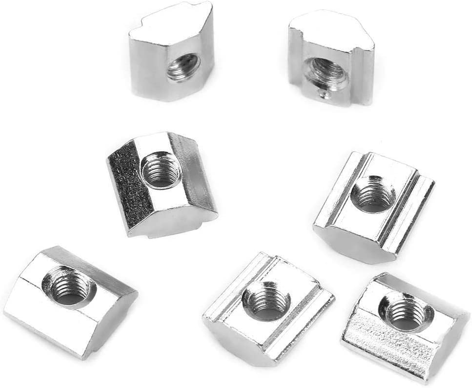 Beennex 50pcs Carbon Steel Sliding T-Slot Nut for 20 Series Aluminum Profile Accessories M4105